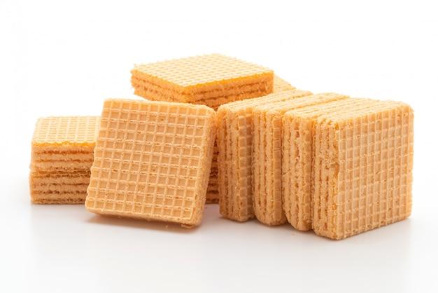 Biscotto di wafer con crema all'arancia