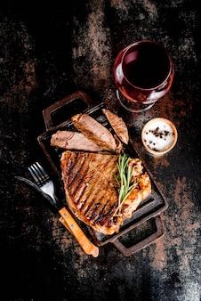 Bistecca di manzo alla griglia con spezie