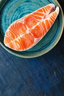 Bistecca di pesce rosso salmone filetto di pesce porzioni