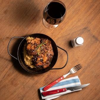 Bistecca piatta con contorno
