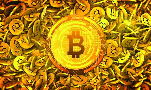 Bitcoin criptovaluta sfondo