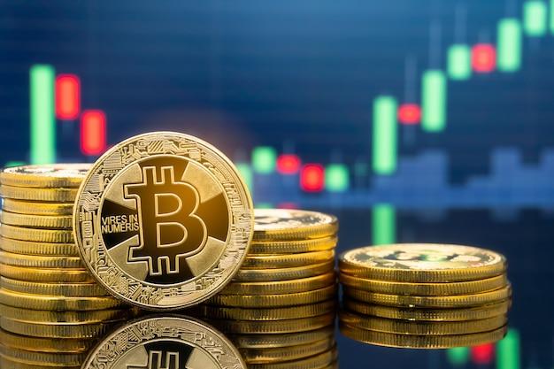 Bitcoin e criptovaluta che investono concetto.