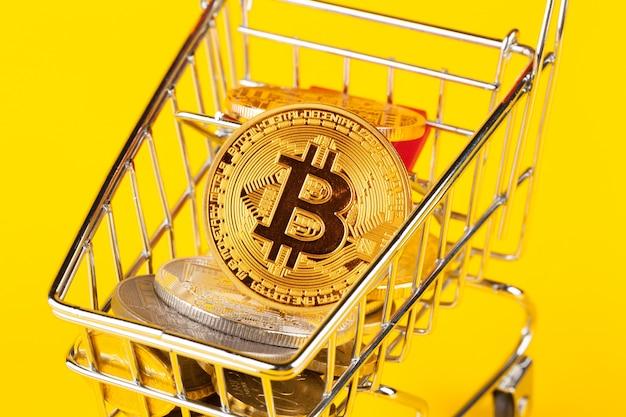 Bitcoin nel mini carrello