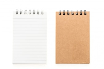 Blank mock up notebook