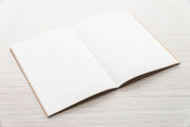 Blank mock up notebook