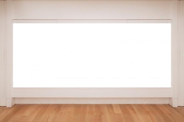 Blank white copy space frame sul muro