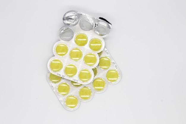 Blister di compresse / pillole. farmaci da prescrizione in blister