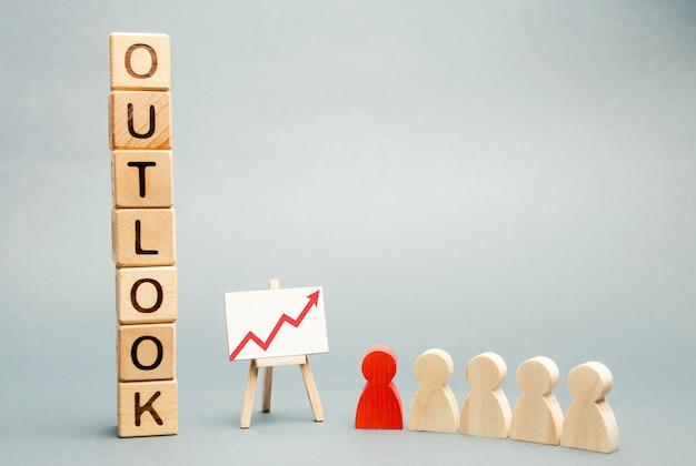 Blocchi di legno con la parola outlook