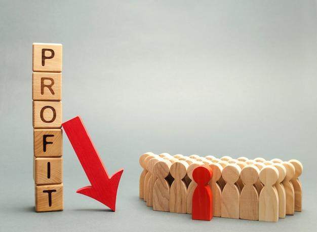 Blocchi di legno con la parola profitto