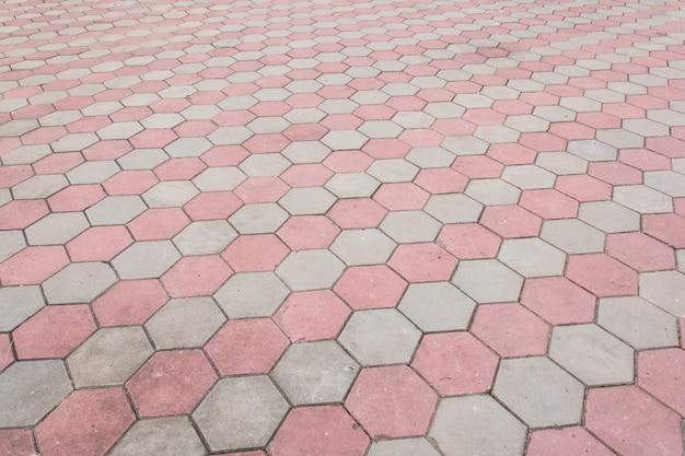 Blocco di cemento esagono footpath