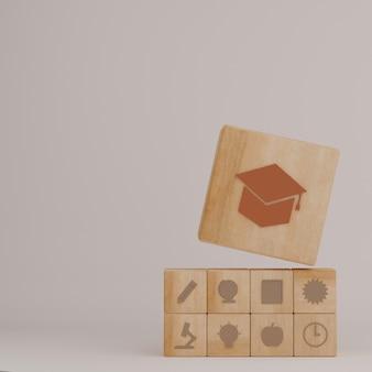 Blocco di legno di educazione