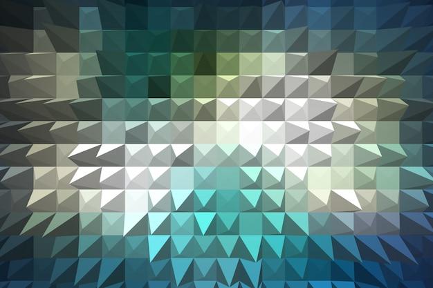 Blu estrudere geometrico astratto