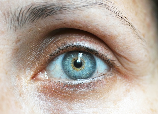 Blue eye primo piano