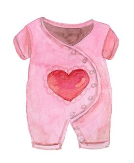 Body rosa dell'acquerello