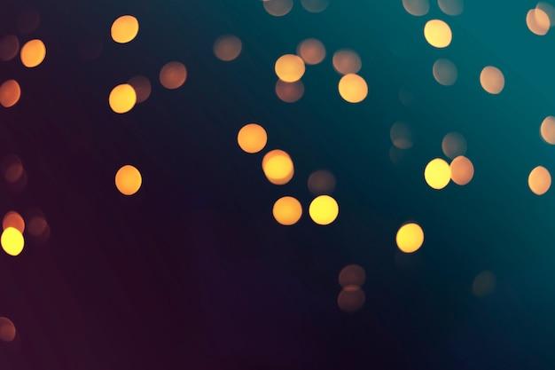 Boke di luci notturne su un buio tonico