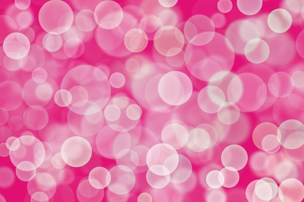 Bokeh bianco astratto, colore di sfondo rosa