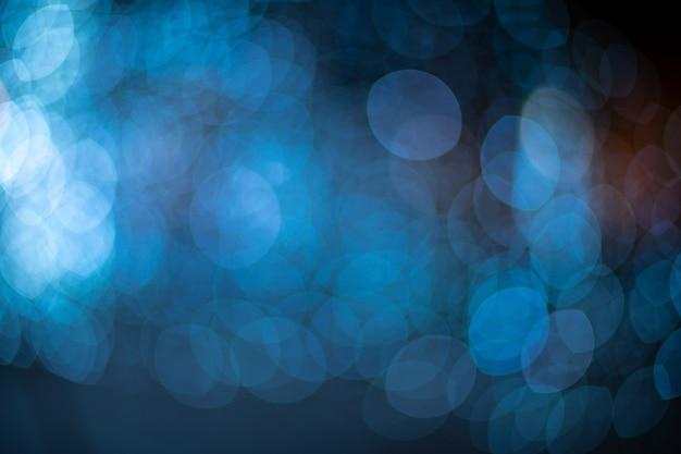 Bokeh blu sfocato sfondo di luci