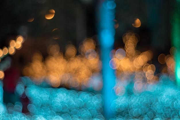 Bokeh circolare astratto di luce offuscata