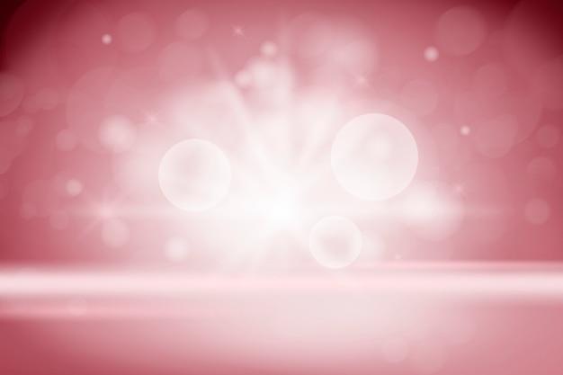Bokeh illumina lo sfondo del prodotto