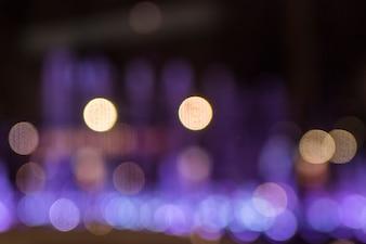 Bokeh sfocato sfondo di luci