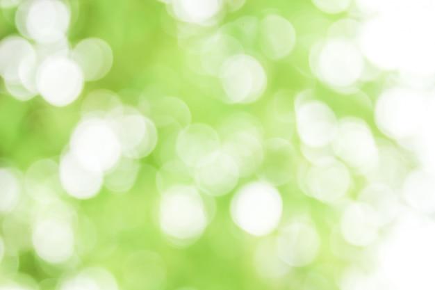 Bokeh verde naturale astratto