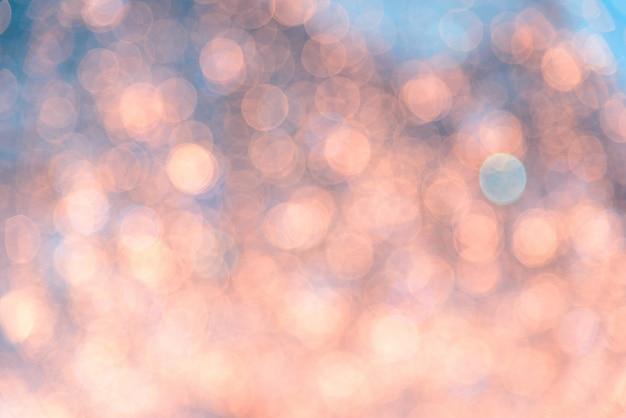 Bokeh vivido in stile morbido colore per lo sfondo della luce di natale
