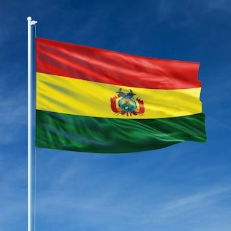Bolivia flag flying