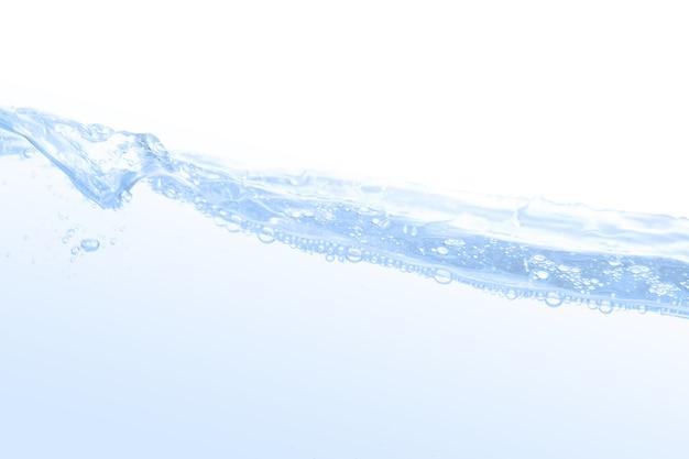 Bolla d'acqua isolato su sfondo bianco, con spazio per la copia.