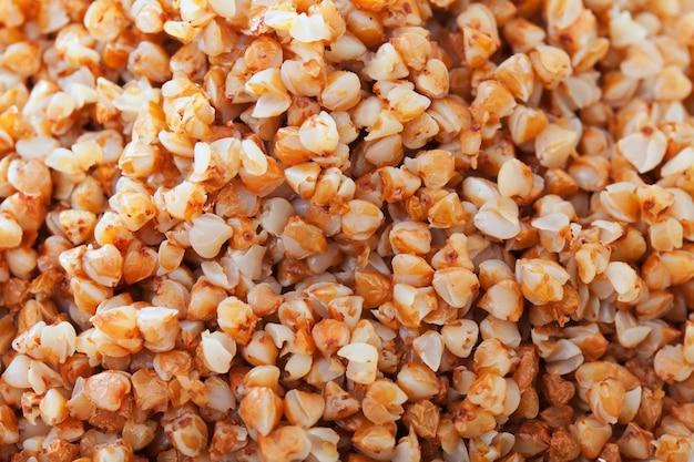 Bollito sfondo di porridge di grano saraceno