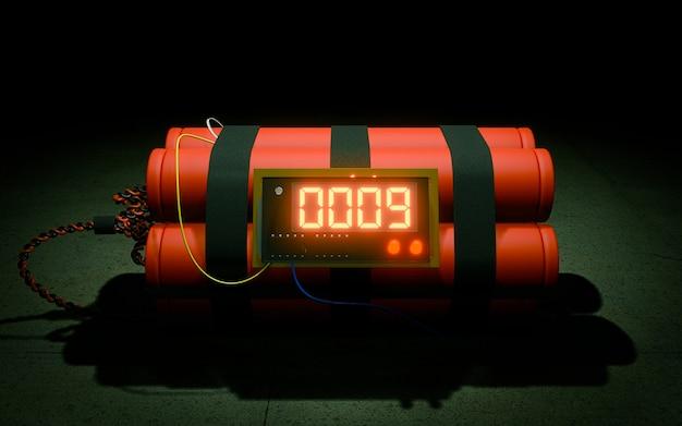 Bomba a orologeria su sfondo scuro
