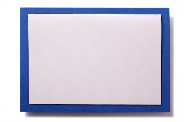 Bordo blu della carta dell'invito di natale