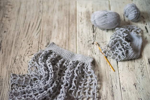 Borsa a maglia ecologica per persone attente all'ambiente.