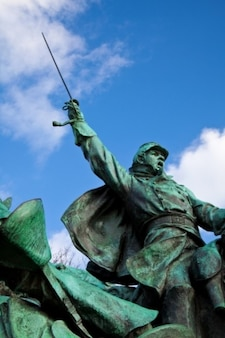Borsa di cavalleria statua