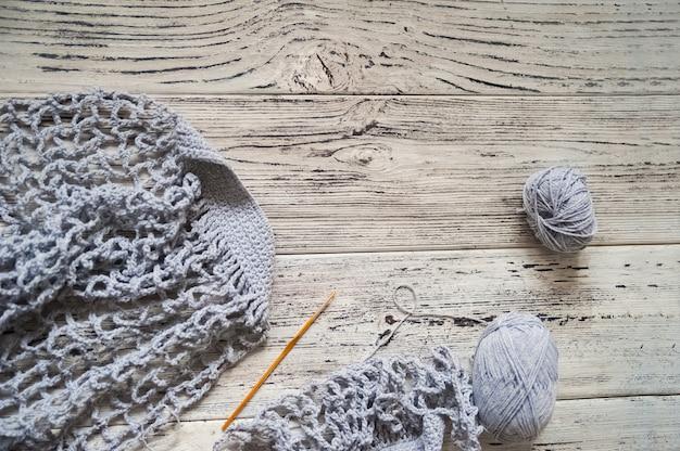 Borsa ecologica in maglia di filo di lino. degradabile.