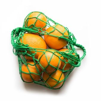 Borsa shopping con arancio.