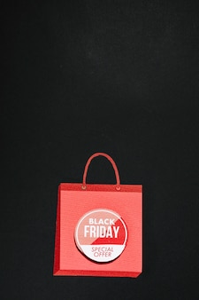 Borsa shopping rosa con offerta black friday