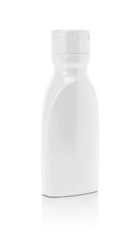 Bottiglia d'imballaggio in bianco della salsa del ketchup isolata