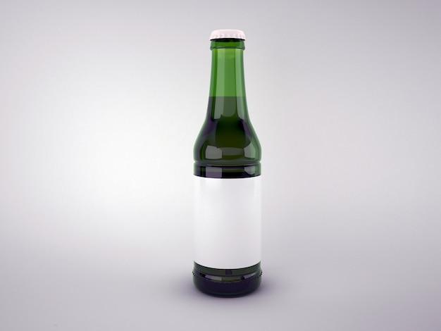 Bottiglia di birra verde vuota