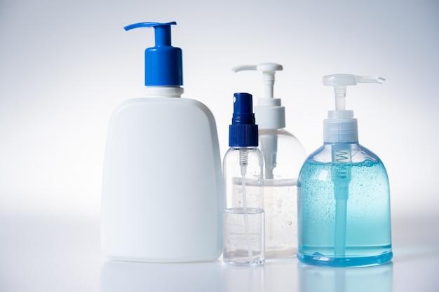 Bottiglia di gel disinfettante