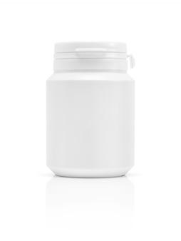 Bottiglia di prodotto di supplemento di imballaggio in bianco isolato
