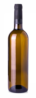 Bottiglia di vino isolato su uno sfondo bianco