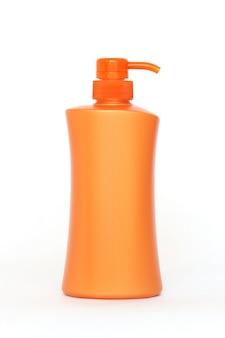 Bottiglie di plastica di prodotti per la cura del corpo e di bellezza
