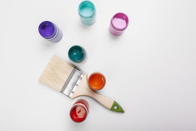 Bottiglie di vernice plastica per art