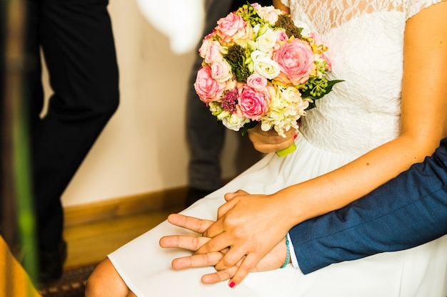 Bouquet da sposa il giorno del matrimonio