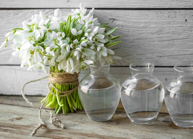Bouquet di bellissimi bucaneve