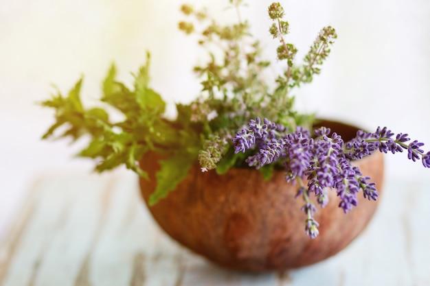 Bouquet di erbe da giardino
