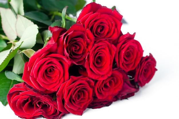 Bouquet di rose su uno sfondo bianco