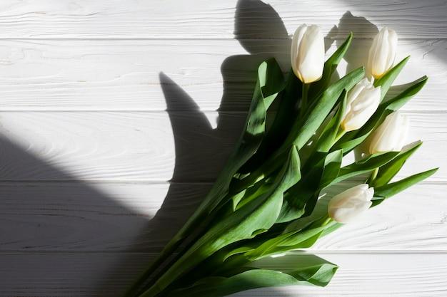 Bouquet di tulipani vista dall'alto