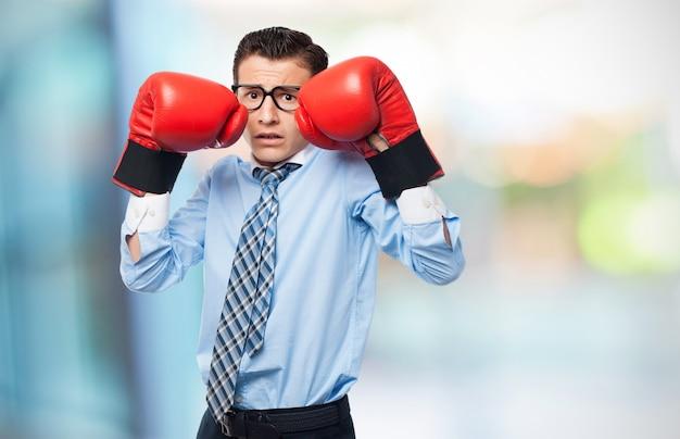 Boxe uomo pronto a combattere