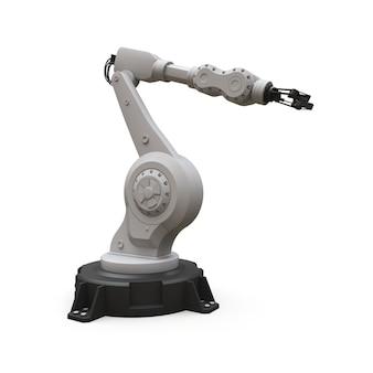 Braccio robotizzato per qualsiasi lavoro in fabbrica o produzione. attrezzature meccatroniche per compiti complessi